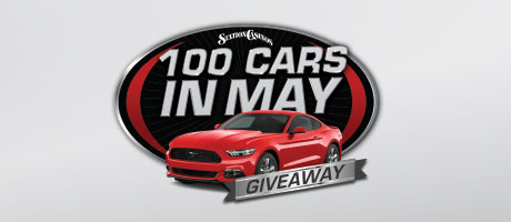 100 cars in May giveaway