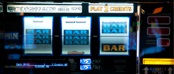 Slot machine with Triple blue bars