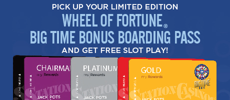 Wheel of Fortune® Boarding Pass